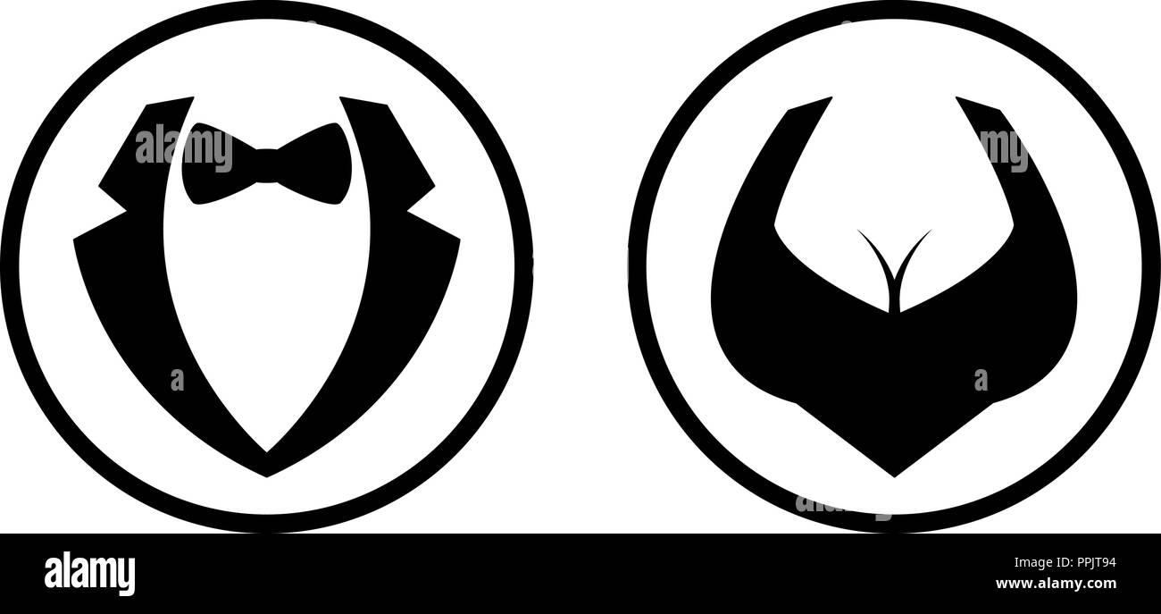 Symbol mann frau vektor Mann Frau