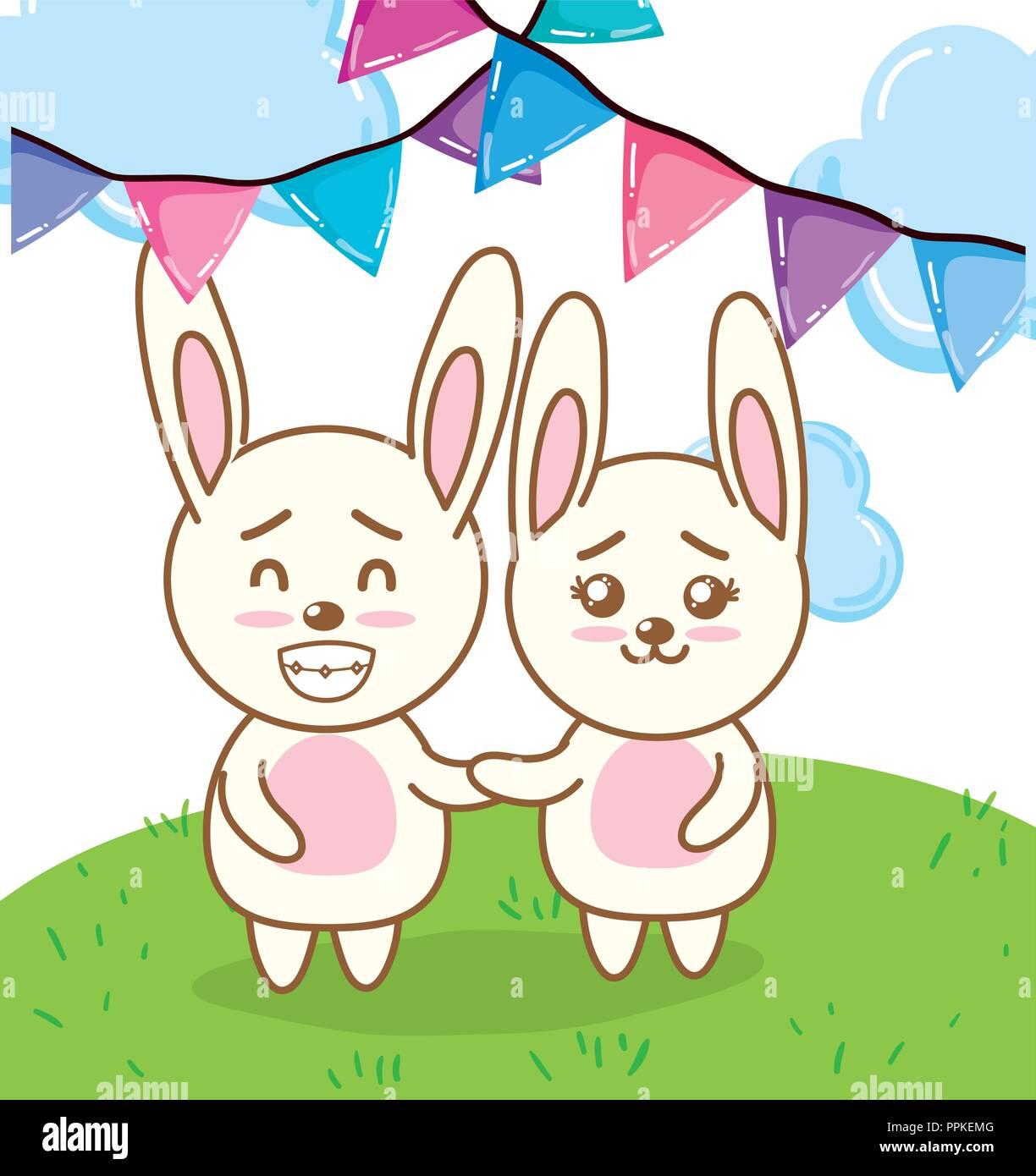 Happy Birthday Kaninchen Cartoons