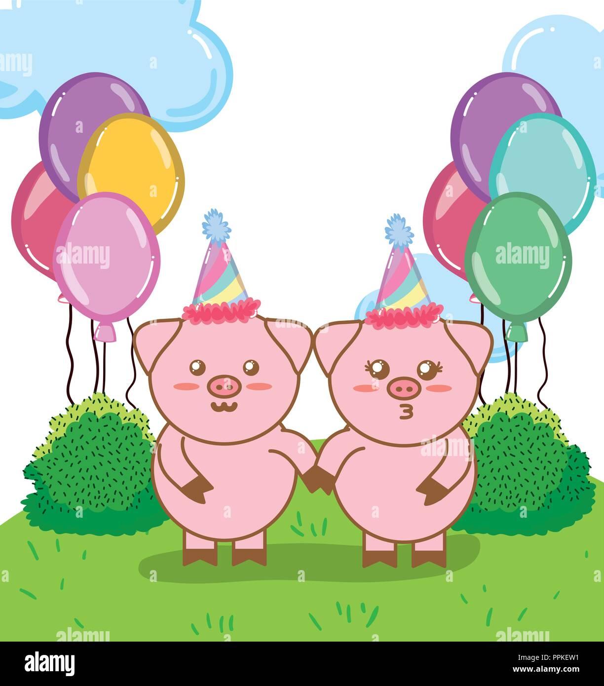 Happy Birthday Schweine Cartoons