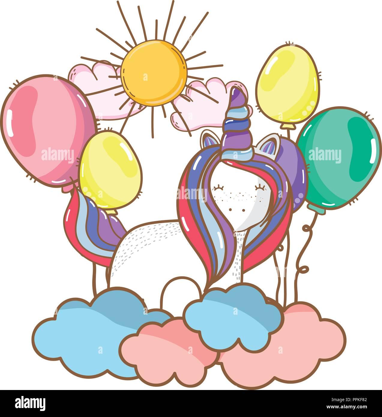Happy Birthday Einhorn Cartoons