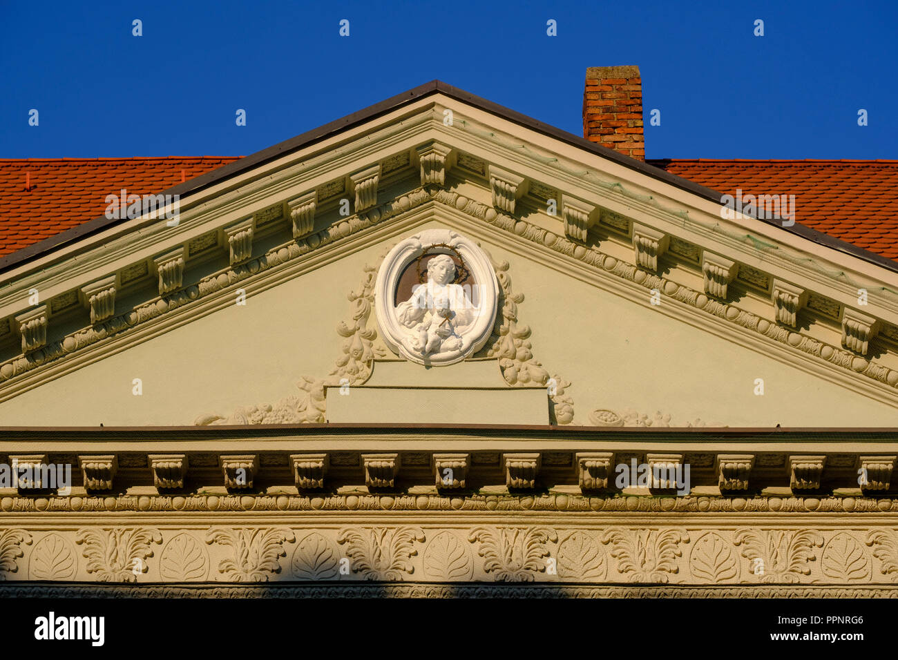 Aus dem Welserhaus, Fuggerplatz, augsburg, schwaben, bayern, deutschland Detail Stockfoto