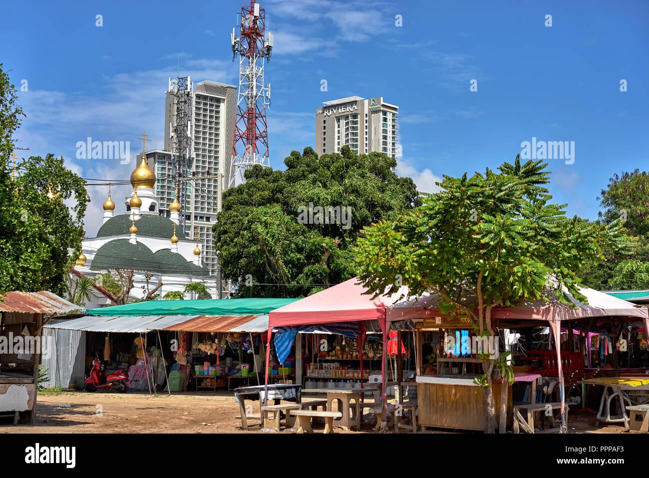 Alte und neue, Struktur, Pattaya, Thailand Stockbild