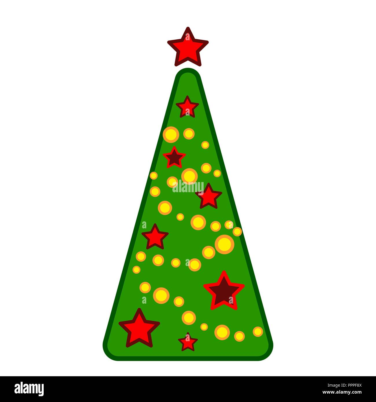 Symbol Weihnachtsbaum.Weihnachtsbaum Vektor Linie Farbenfrohe Symbol Auf Weißem