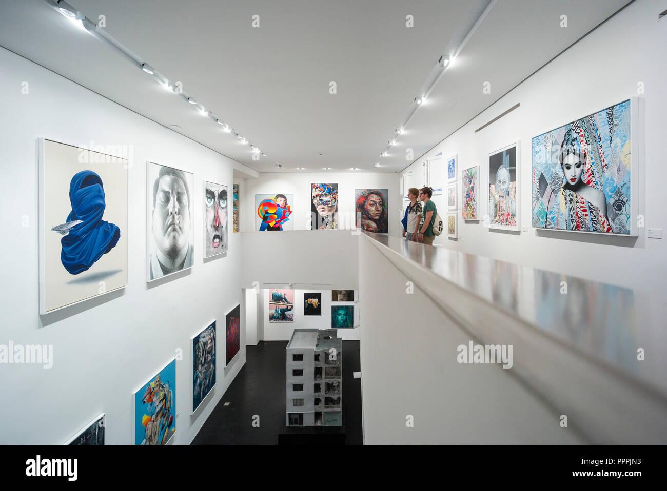 Berlin. Deutschland. Urban Nation Museum für Zeitgenössische Kunst, bülowstraße 7, Schöneberg. Stockbild