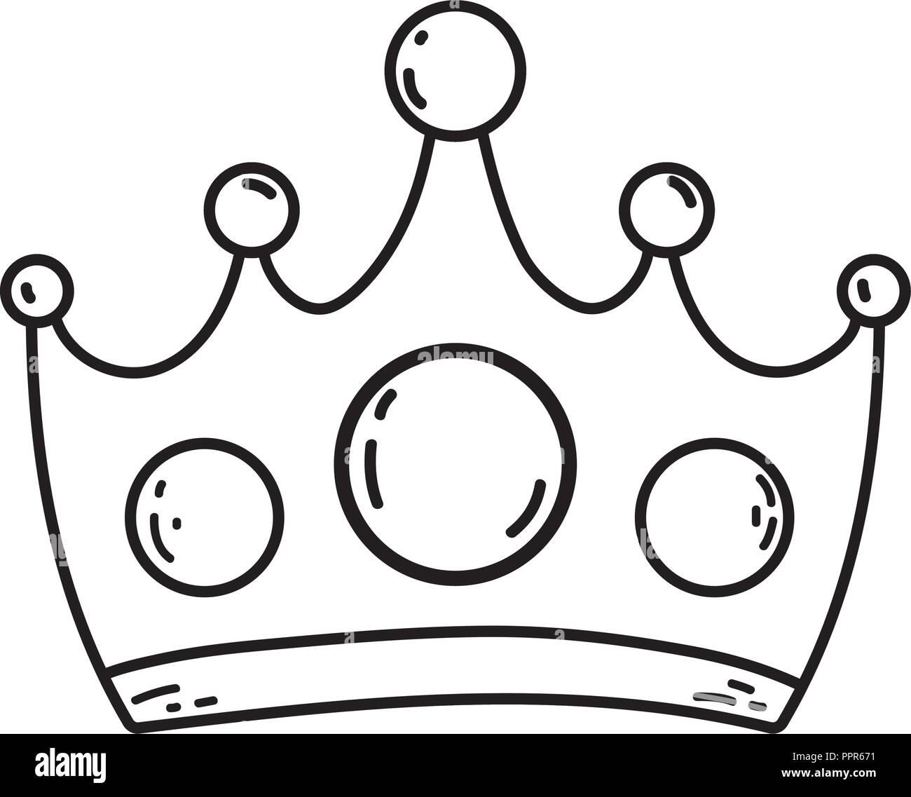 Queen krone cartoon vektor abbildung bild 220556645 alamy - Englisch krone ...