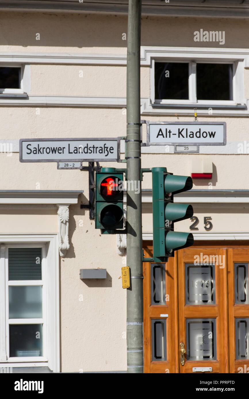 Ampel in Kladow, Berlin, Deutschland. Stockfoto