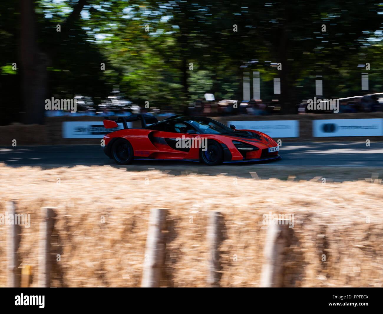 Mclaren Senna in Goodwood Festival der Geschwindigkeit 2018. Stockbild