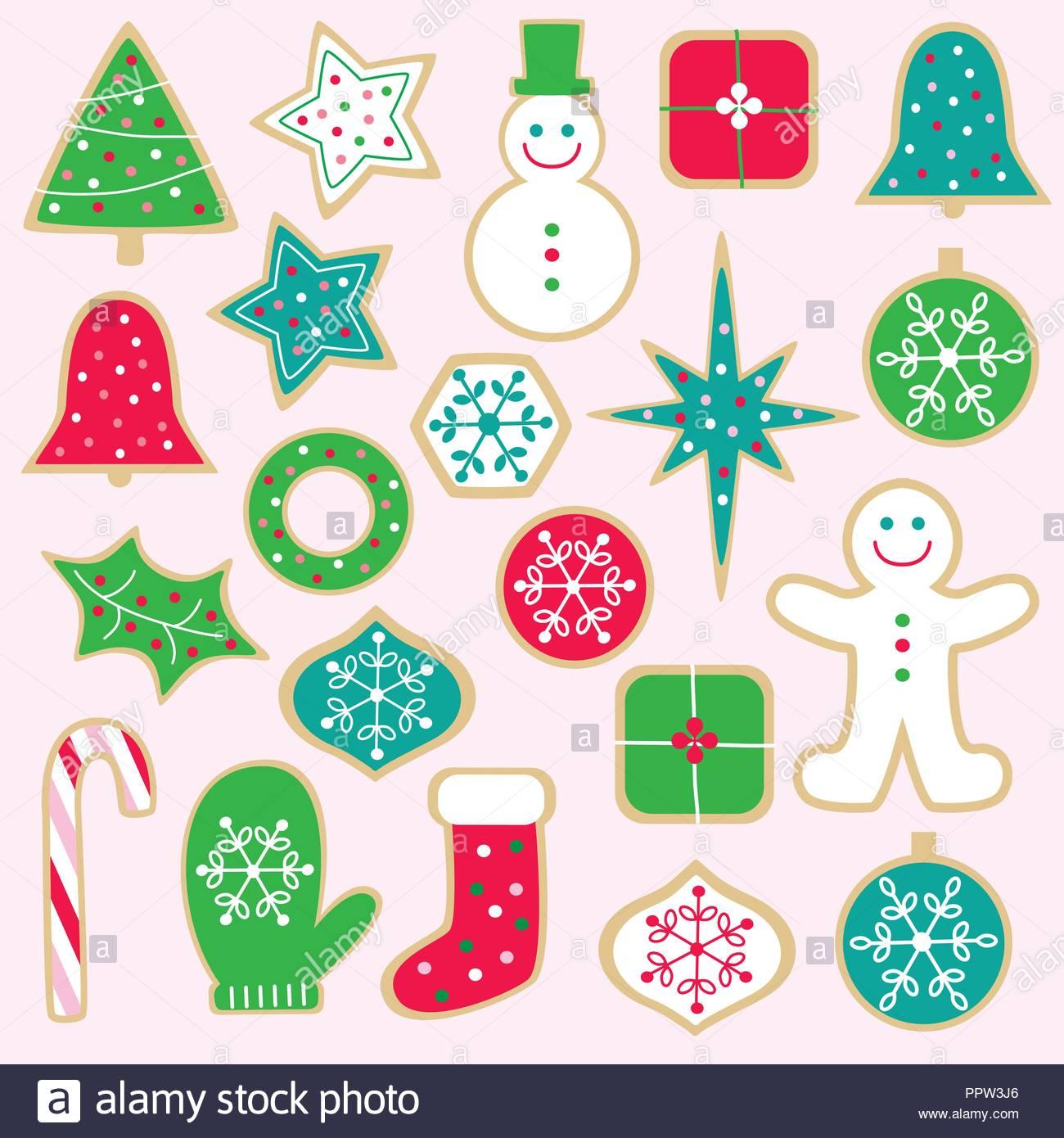 Weihnachtsplätzchen Clipart.Weihnachtsplätzchen Vektor Clipart Vektor Abbildung Bild