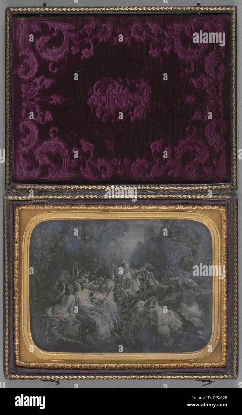 Schabkunst nach dem Zweiten Version von einem Gemälde mit dem Titel Florinde von Franz Xaver Winterhalter; Französisch; nach 1857 Stockbild