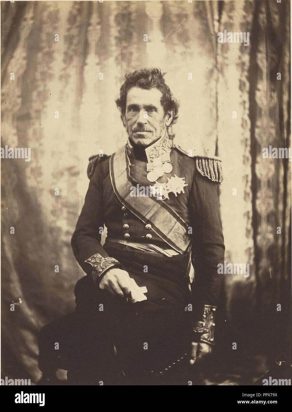 Generalleutnant Sir De Lacy Evans, G. C. B; Roger Fenton, Englisch, 1819-1869, 1855; gesalzen Papier drucken; 19,1 x 14,4 cm Stockbild