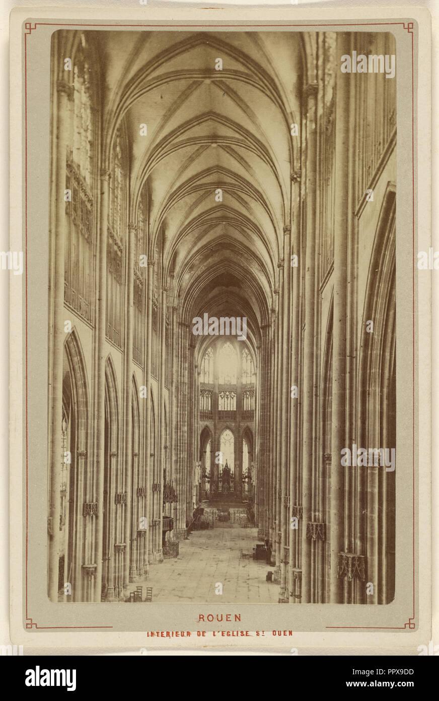 Rouen. Interieur de L'Eglise St. Ouen; Le Comte, Französisch, aktive Rouen, Frankreich 1860, ca. 1875; Eiklar silber Drucken Stockbild