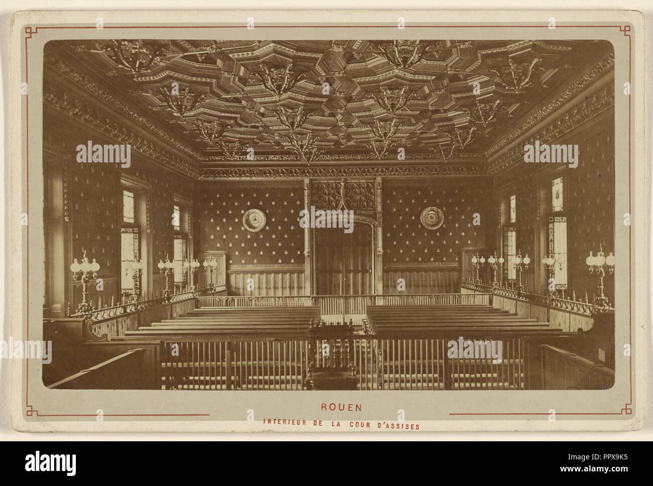 Rouen. Interieur de la Cour d'Assises; Le Comte, Französisch, aktive Rouen, Frankreich 1860S, 1880s; Eiklar silber Drucken Stockbild
