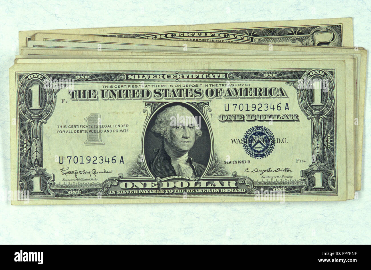 One Dollar Silver Certificate Stockfotos One Dollar Silver