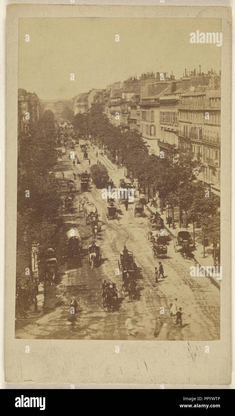 Bvd.des Italiens; Französisch; 1860; Eiklar silber Drucken Stockbild