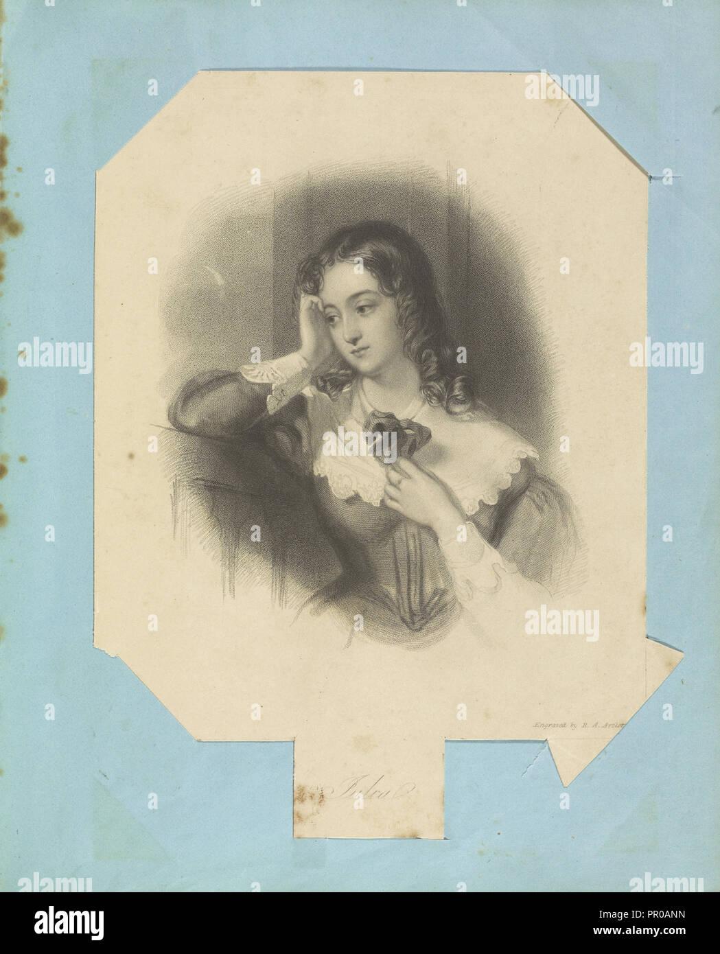 Julia; John William Wright, Britische, 1802 - 1848, Richard Austin Artlett; England; 1843 - 1845; Gravur; 19,4 x 14 cm Stockbild