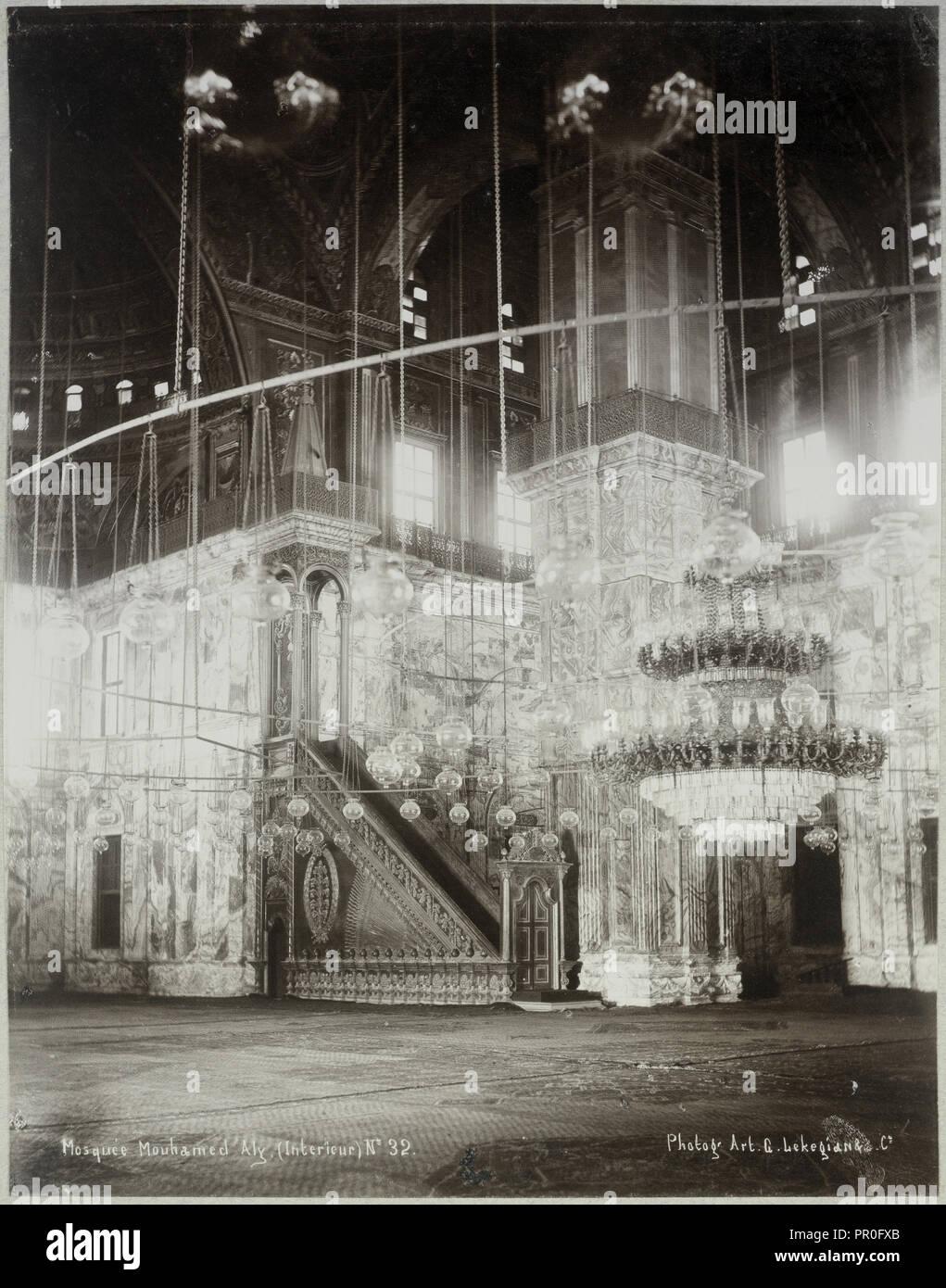 Mosquée Mouhamed Aly, Intérieur, Basse Egypte Janvier 1906 - Alben von Paul Fleury's Reisen in den Nahen Osten Stockbild