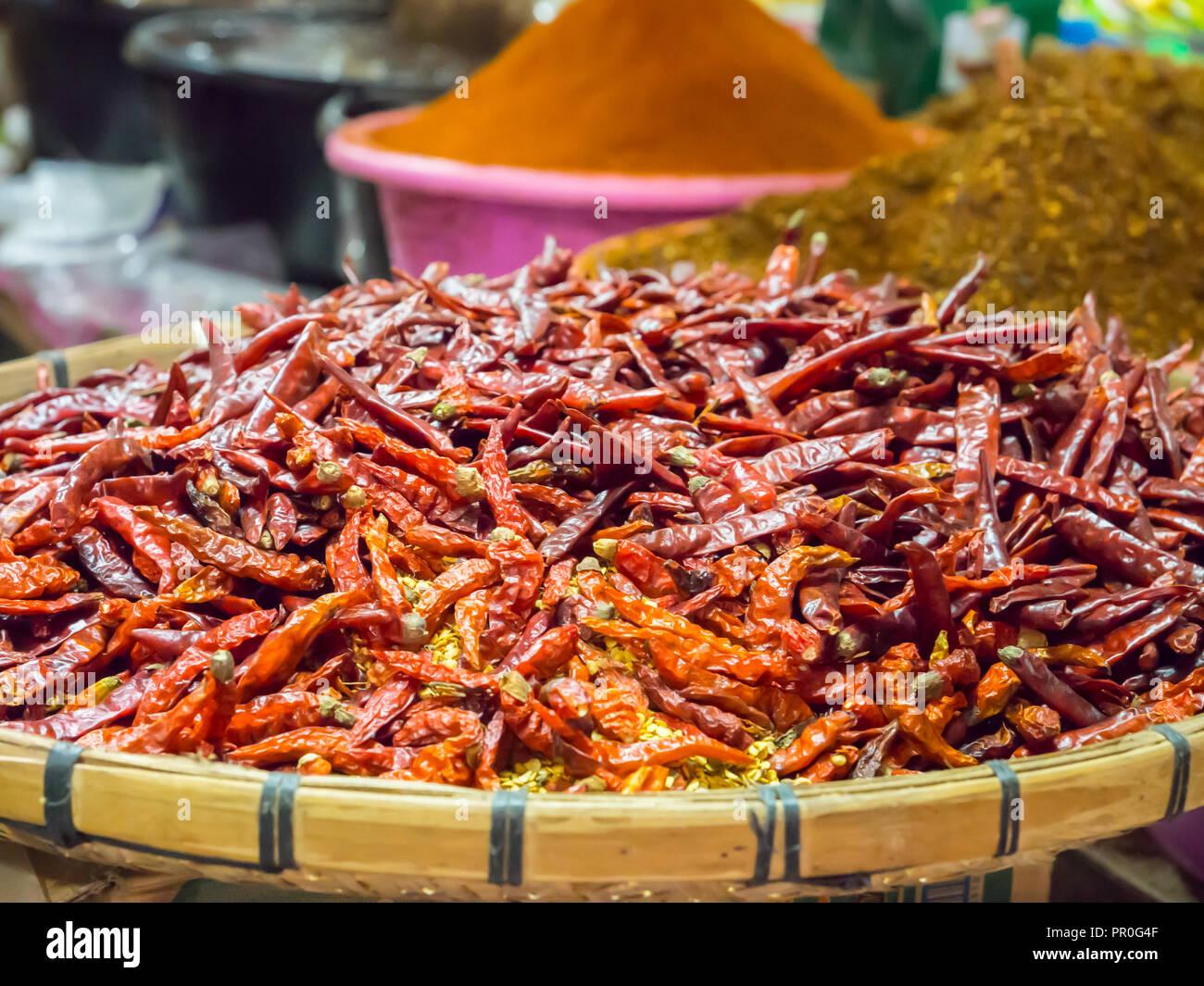 Chilis, Luang Prabang, Laos, Indochina, Südostasien, Asien Stockbild
