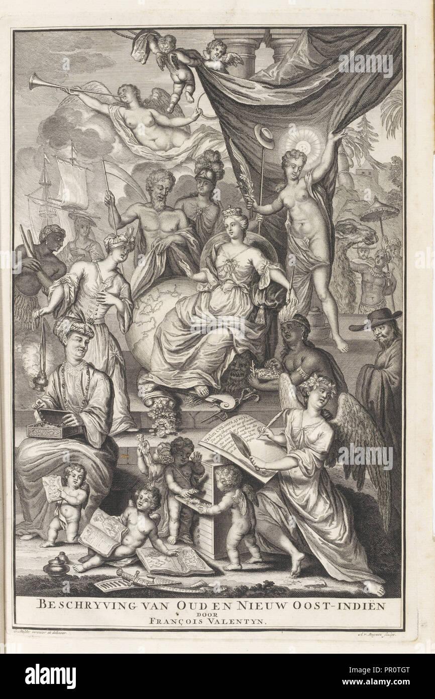 Beschryvinge van Doud en Nieuw Oost-Indiën, Oud en Nieuw Oost-Indiën, vervattende een naaukeurige en uitvoerige verhandelinge Stockbild