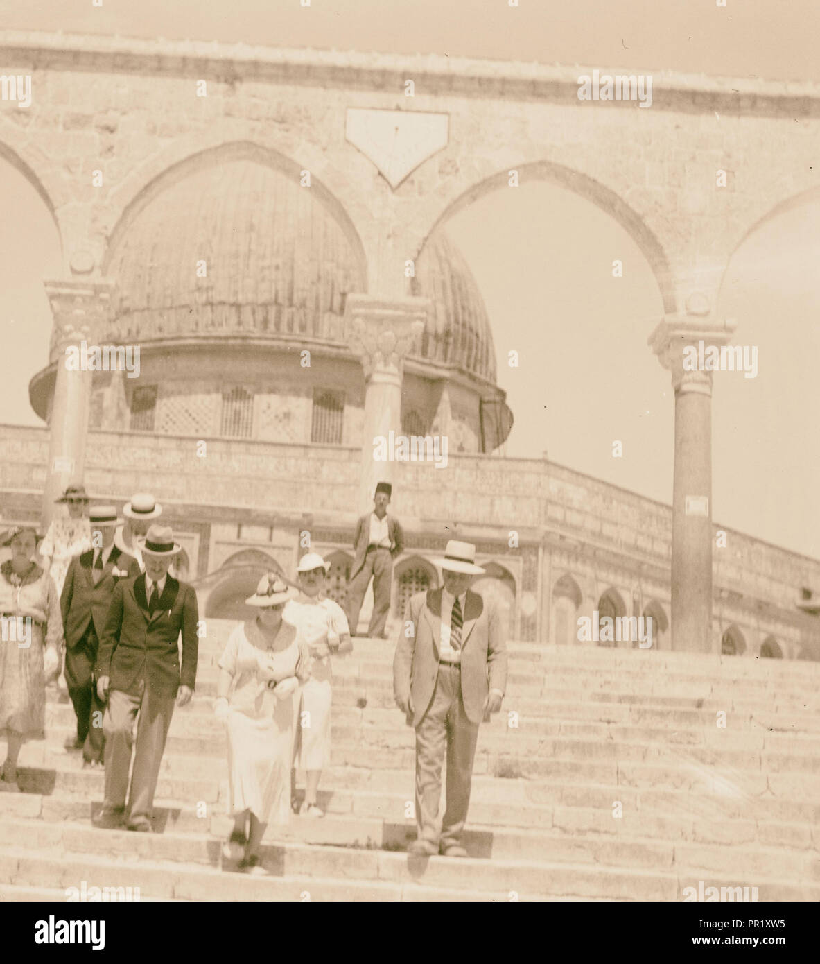 Der US-Senator & Frauen, 12.08.1936, Naher Osten, Israel und/oder Palästina Stockbild