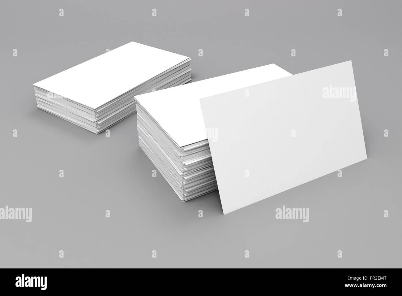 3 D Leer Visitenkarten Stockfoto Bild 220716968 Alamy