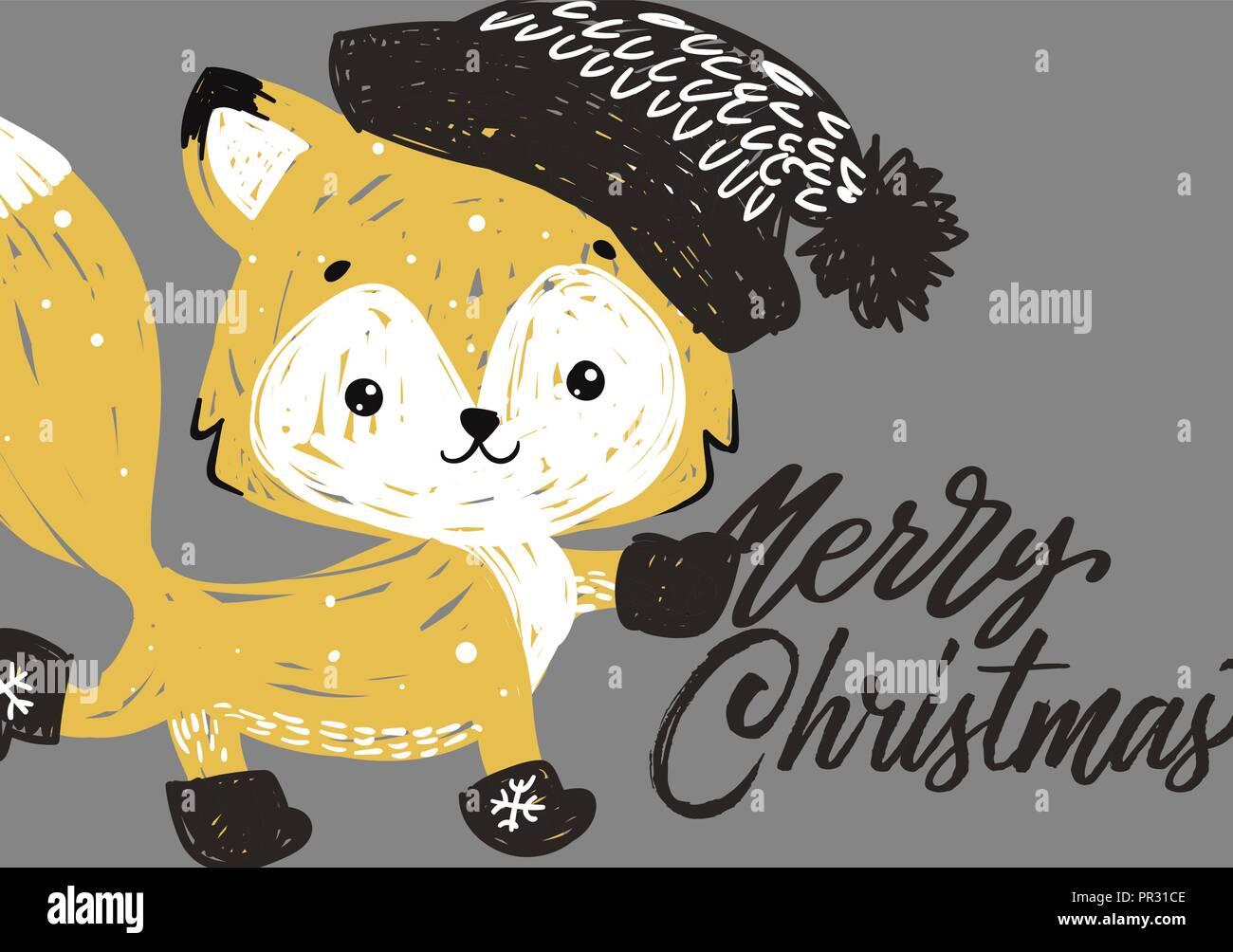 Weihnachten Poster. Vector Illustration. Vorlage für die Begrüßung ...