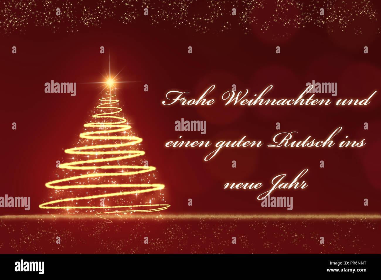 golden funkelnden weihnachtsbaum gegen eine rote. Black Bedroom Furniture Sets. Home Design Ideas