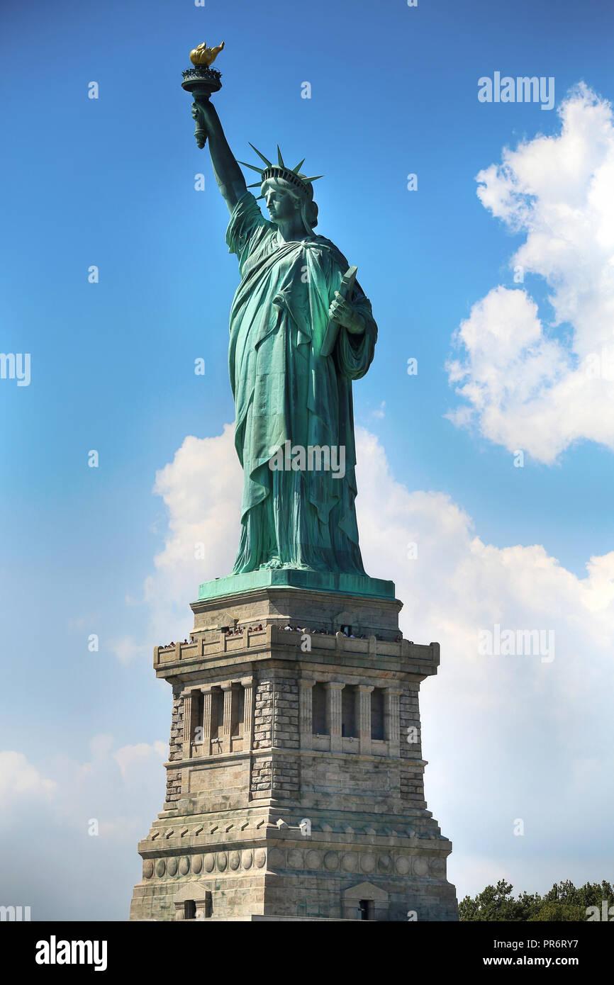 Die Freiheitsstatue in New York City Stockbild