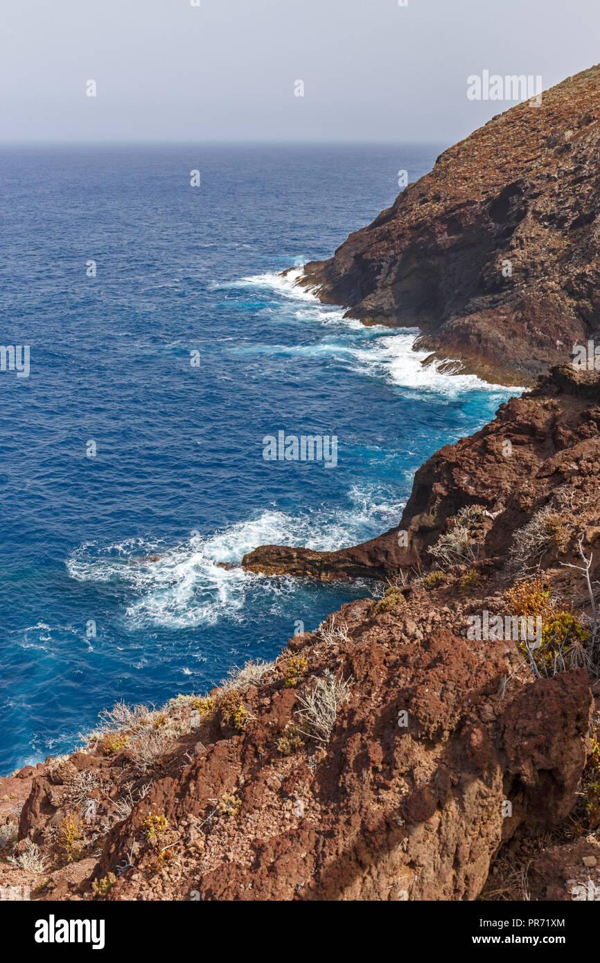 Vulkanischen Küste in La Palma, Kanarische InselnStockfoto