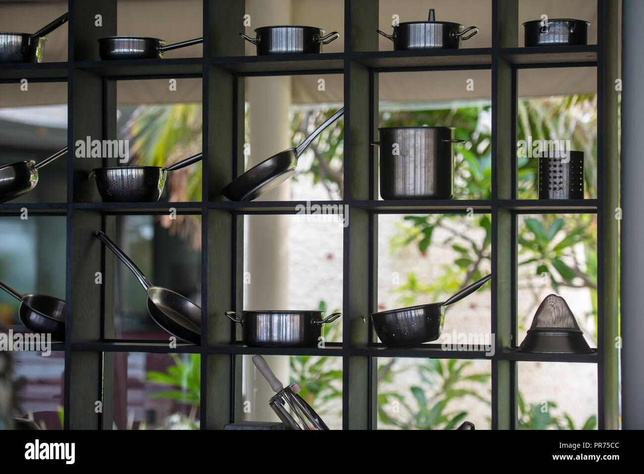 Outdoor Küche Deko : Modernes restaurant outdoor küche kochgeschirr dekoration