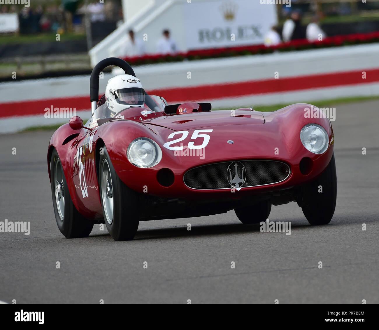 Conrad Ulrich, Maserati 300S, Freddie März Memorial Trophy, Sportwagen, 1952 bis 1955, Goodwood Revival 2018, September 2018, Automobile, Autos, Circ. Stockbild