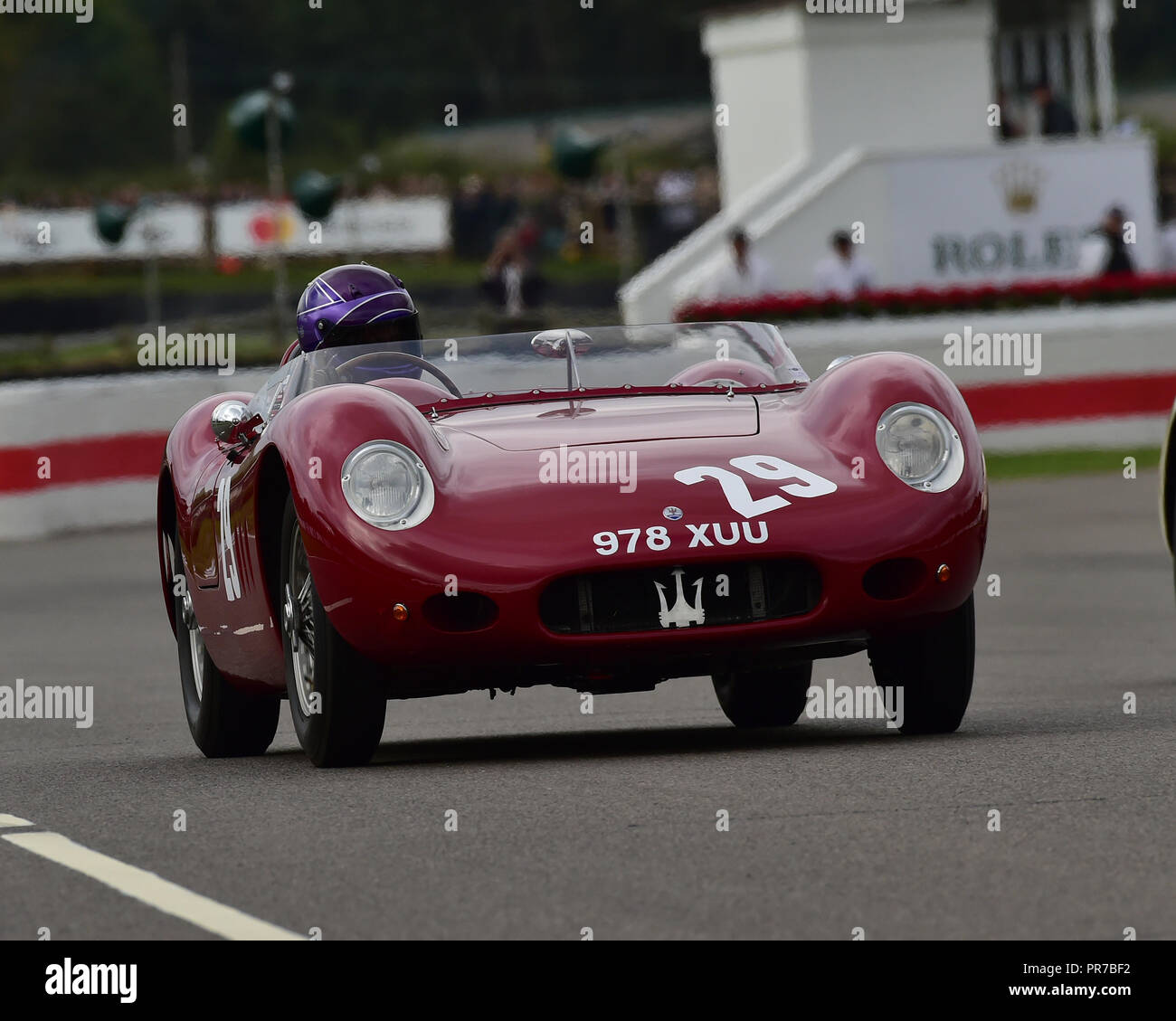 Steve Glynn, Maserati 200 Si, Freddie März Memorial Trophy, Sportwagen, 1952 bis 1955, Goodwood Revival 2018, September 2018, Automobile, Autos, Circus Stockbild