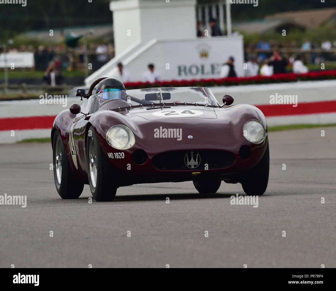 Martin Halusa, Maserati 300S, Freddie März Memorial Trophy, Sportwagen, 1952 bis 1955, Goodwood Revival 2018, September 2018, Automobile, Autos, Circ. Stockbild