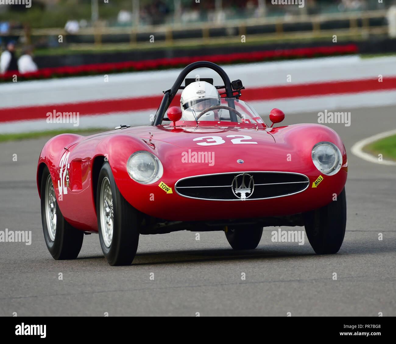 Carlos Sielecki, Maserati A6GCS, Freddie März Memorial Trophy, Sportwagen, 1952 bis 1955, Goodwood Revival 2018, September 2018, Automobile, Autos, c Stockbild