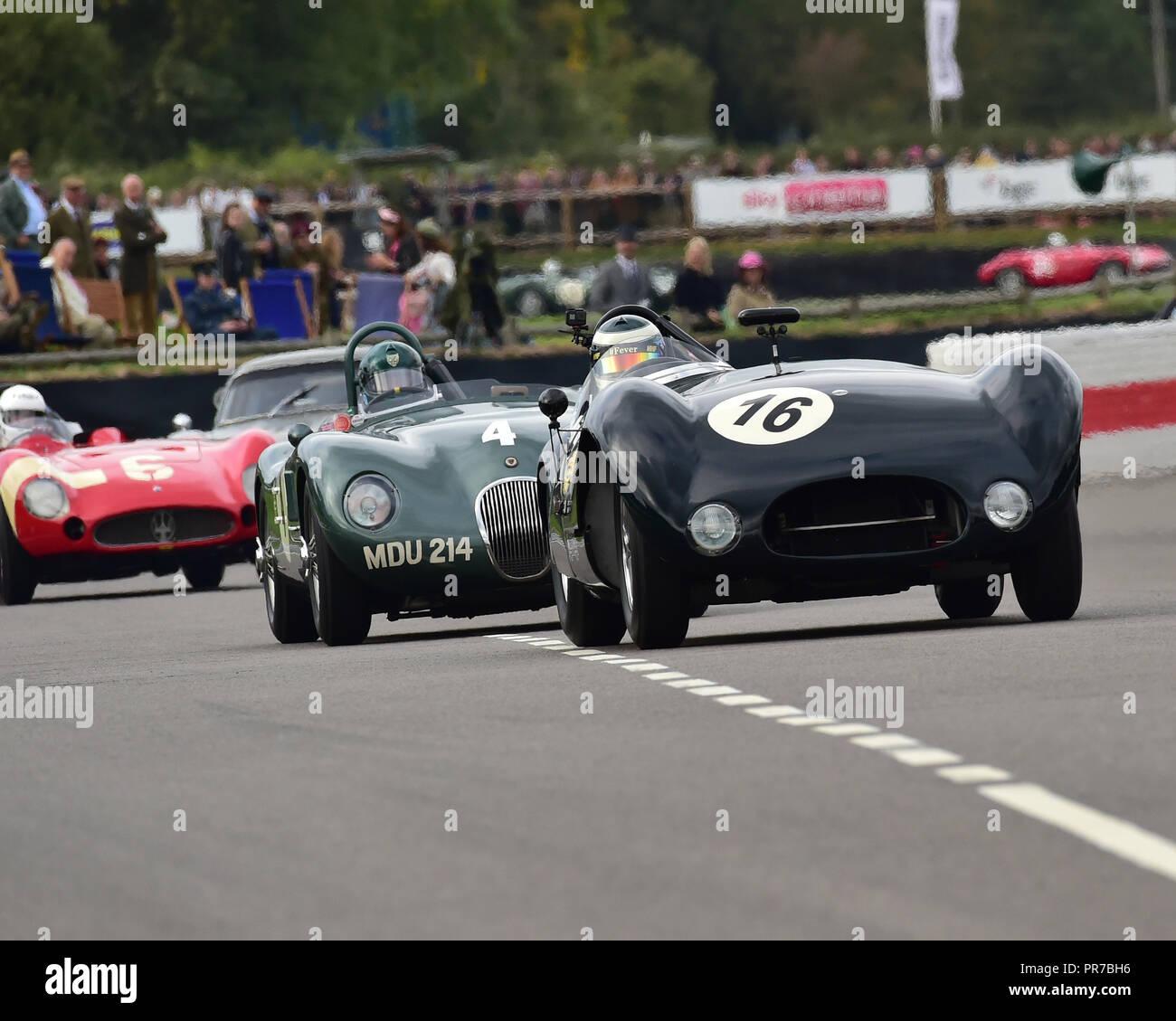 Katarina Kyvalova, Cooper T33 Jaguar, Freddie März Memorial Trophy, Sportwagen, 1952 bis 1955, Goodwood Revival 2018, September 2018, Automobile, Ca Stockbild