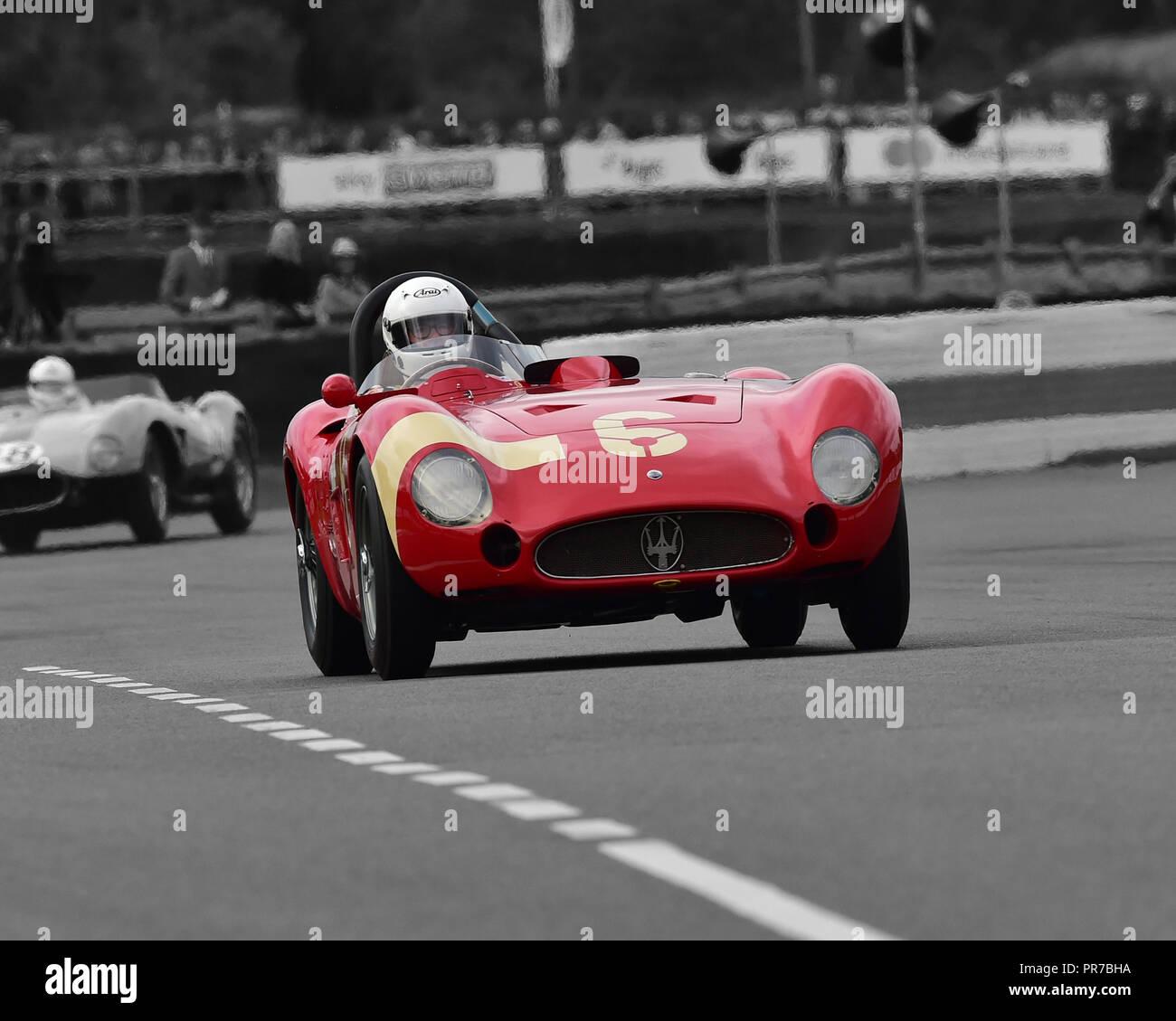 Carlo Vogele, Maserati 300S, Freddie März Memorial Trophy, Sportwagen, 1952 bis 1955, Goodwood Revival 2018, September 2018, Automobile, Autos, Circus Stockbild