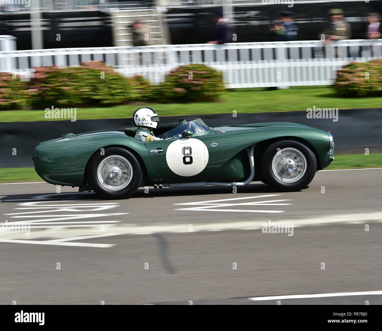 Peter Bradfield, Aston Martin DB 3 S, Freddie März Memorial Trophy, Sportwagen, 1952 bis 1955, Goodwood Revival 2018, September 2018, Automobile, Autos Stockbild