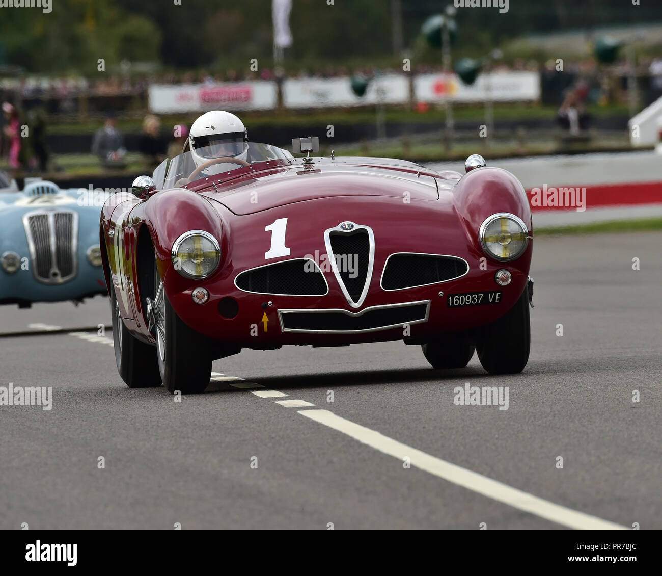 Christopher Mann, Alfa Romeo Disco Volante, Freddie März Memorial Trophy, Sportwagen, 1952 bis 1955, Goodwood Revival 2018, September 2018, Automobil Stockbild