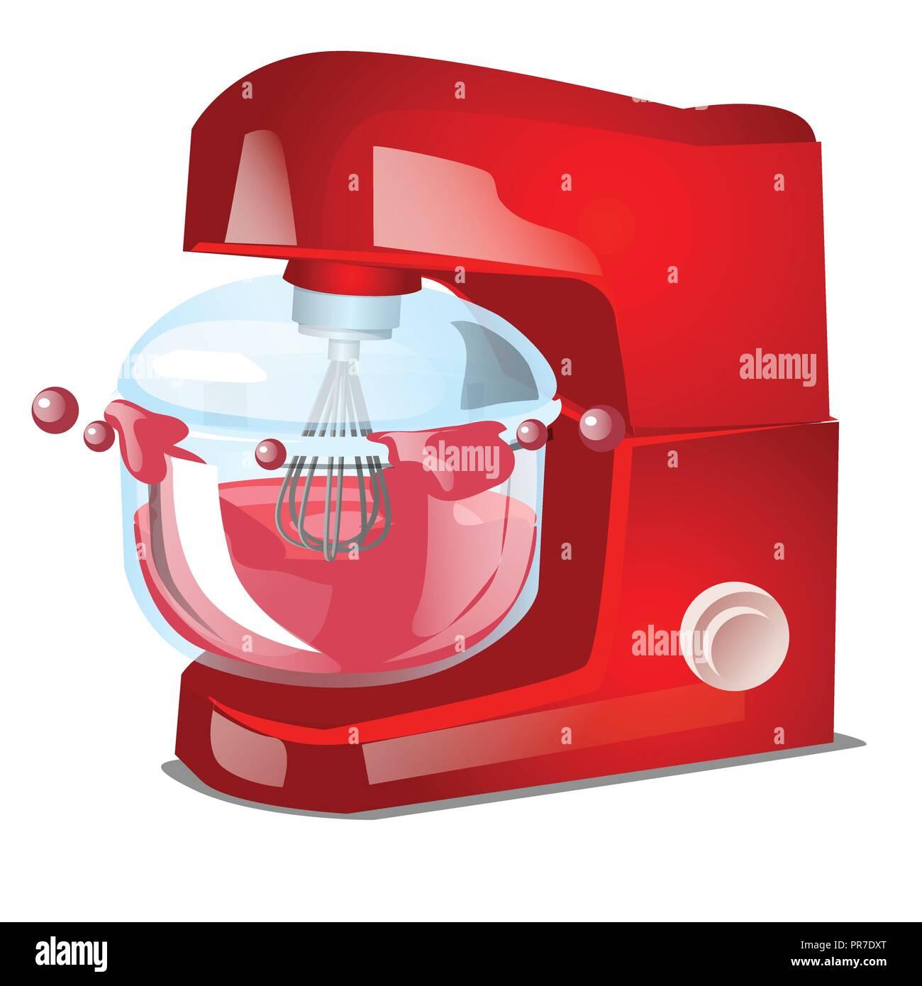 Rot Küchenmaschine oder Mixer, Küche elektrische Ausrüstung für das ...