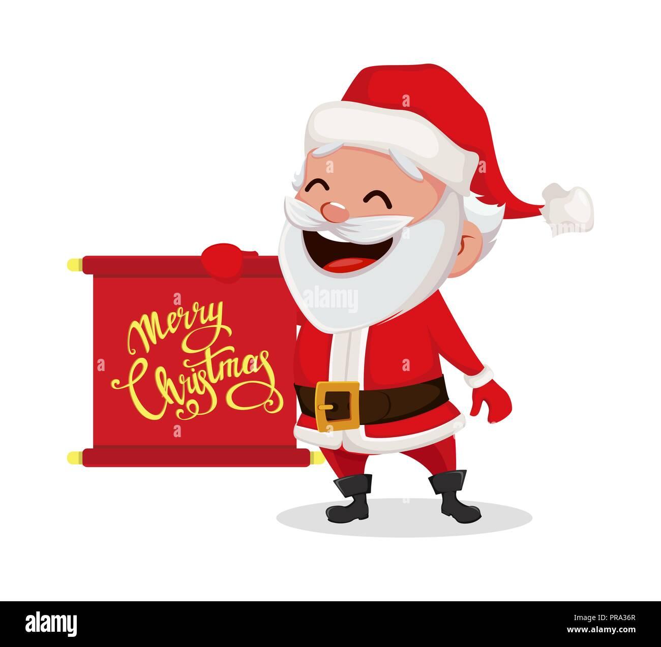 Weihnachten Funny.Frohe Weihnachten Funny Santa Claus Fröhliche Zeichentrickfigur
