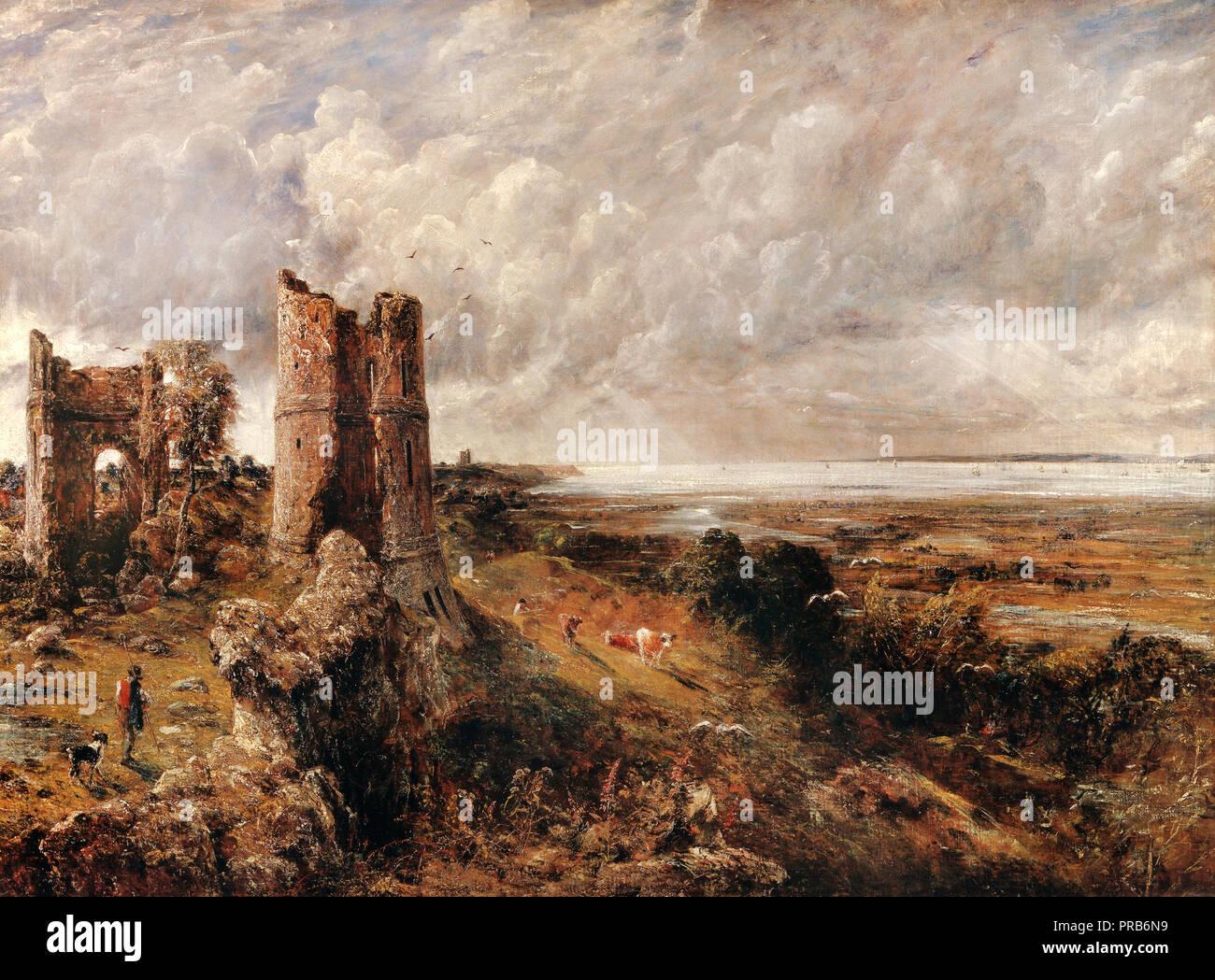 John Constable, Hadleigh Castle, der Mündung der Themse am Morgen nach einer stürmischen Nacht, 1829, Öl auf Leinwand, Yale Center für British Art, New Haven, USA Stockbild