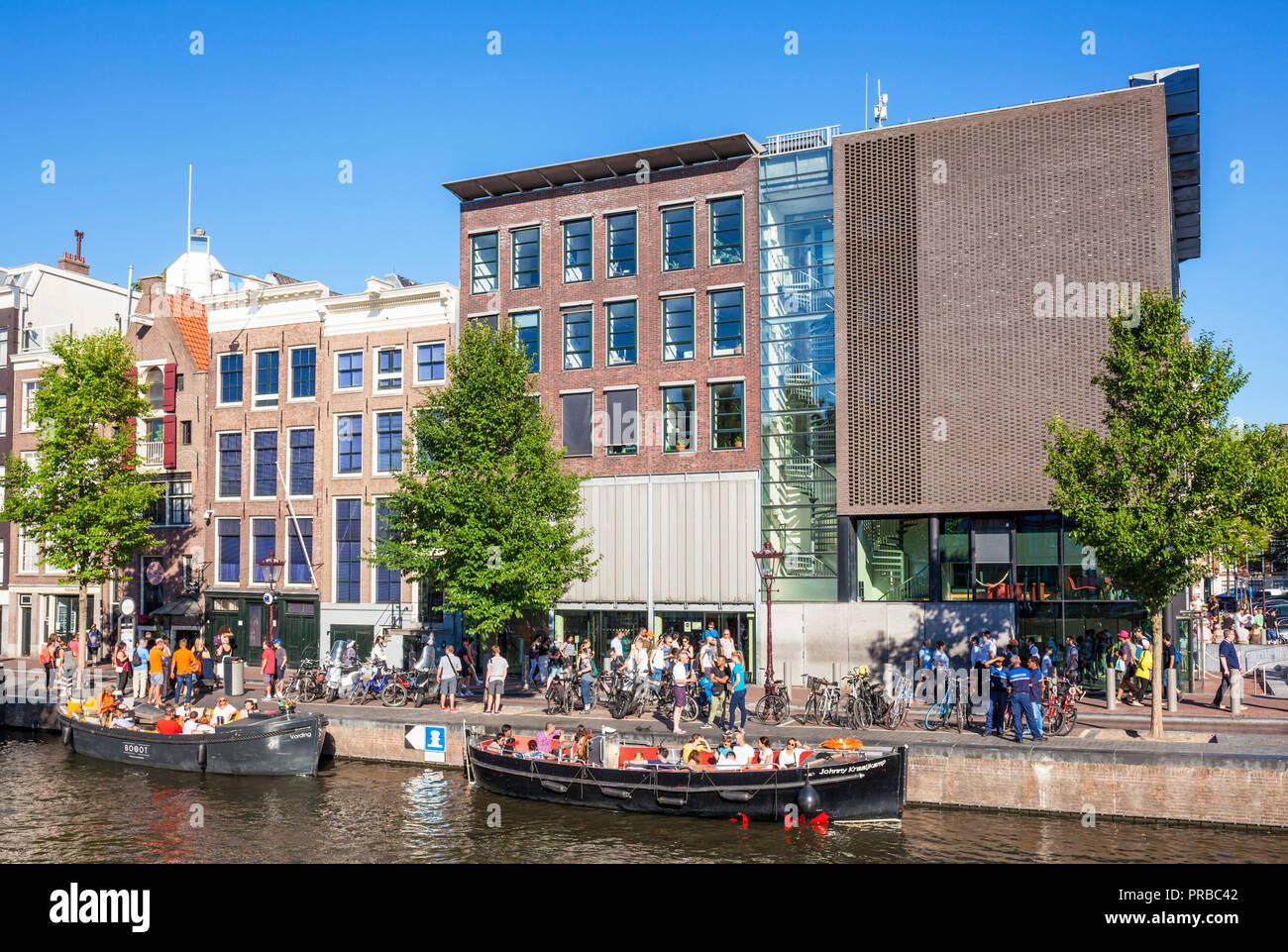 Amsterdam Anne Frank Haus Amsterdam Prinsengracht Holland die Niederlande Stockbild
