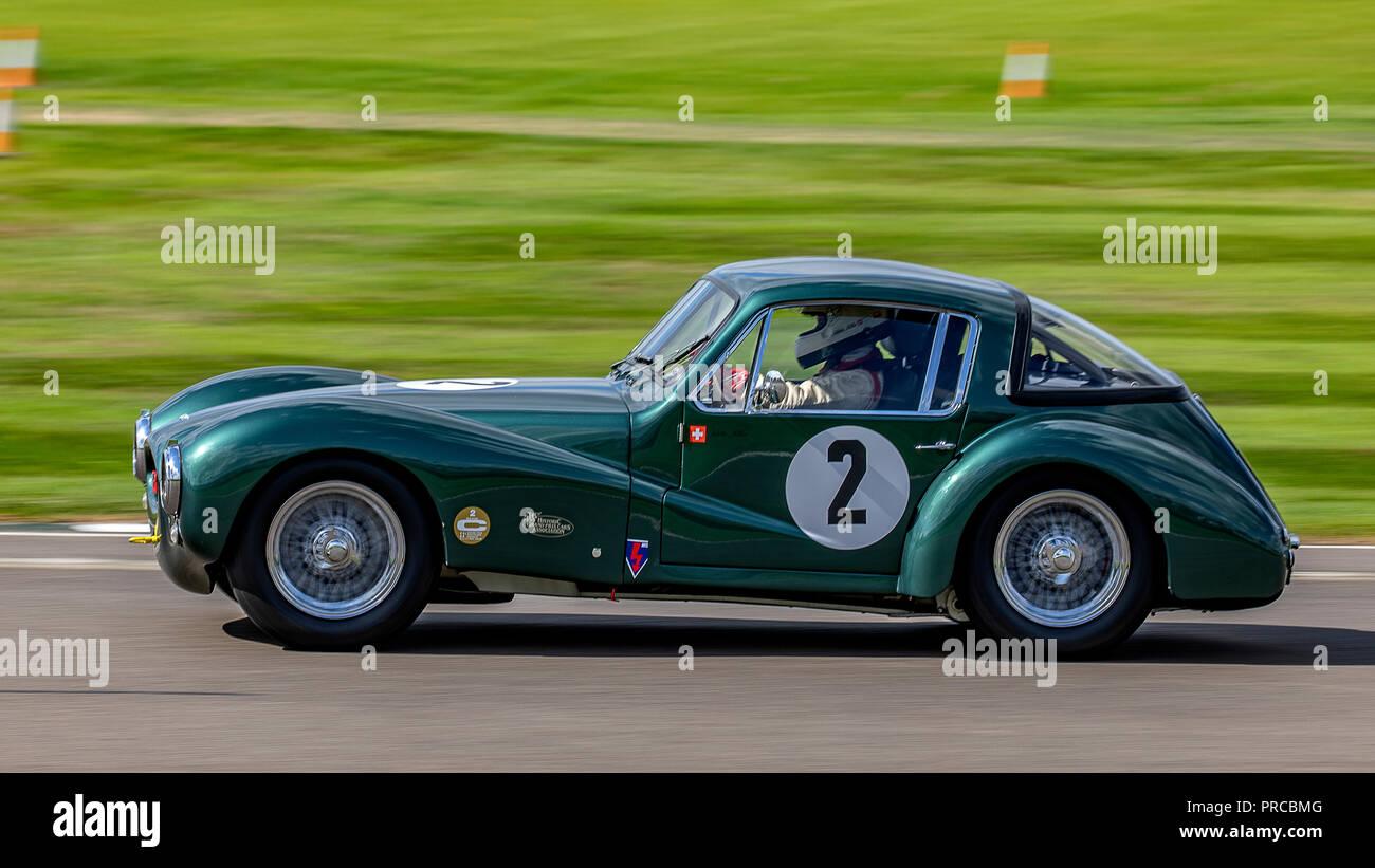 1953 Aston Martin DB3 Coupé. Arlette Muller. 2018 Freddy März Memorial Trophy, Freitag qualifizieren. Stockbild
