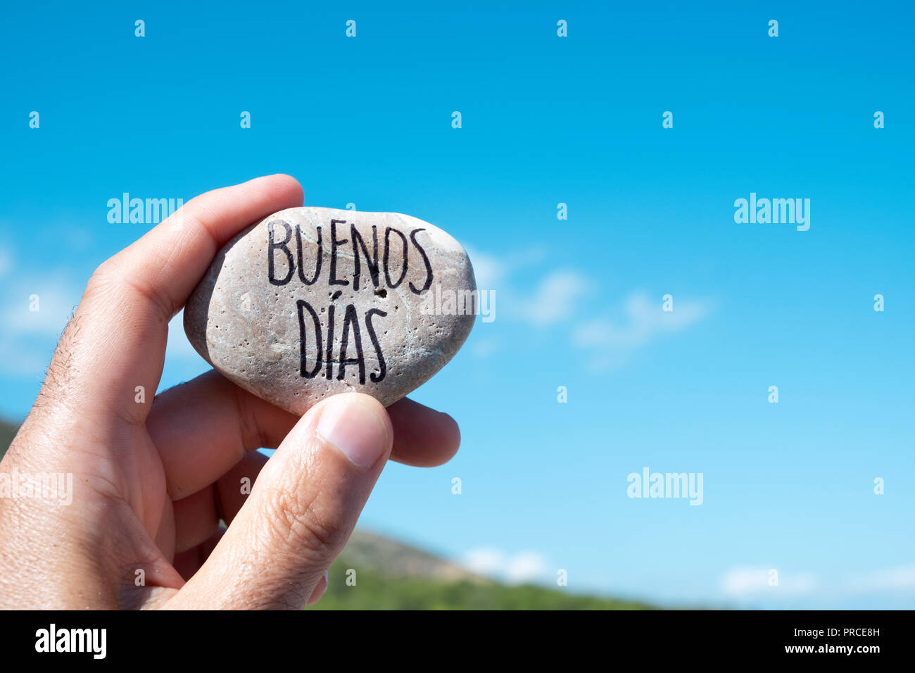 Guten Morgen In Spanisch Stockfotos Guten Morgen In
