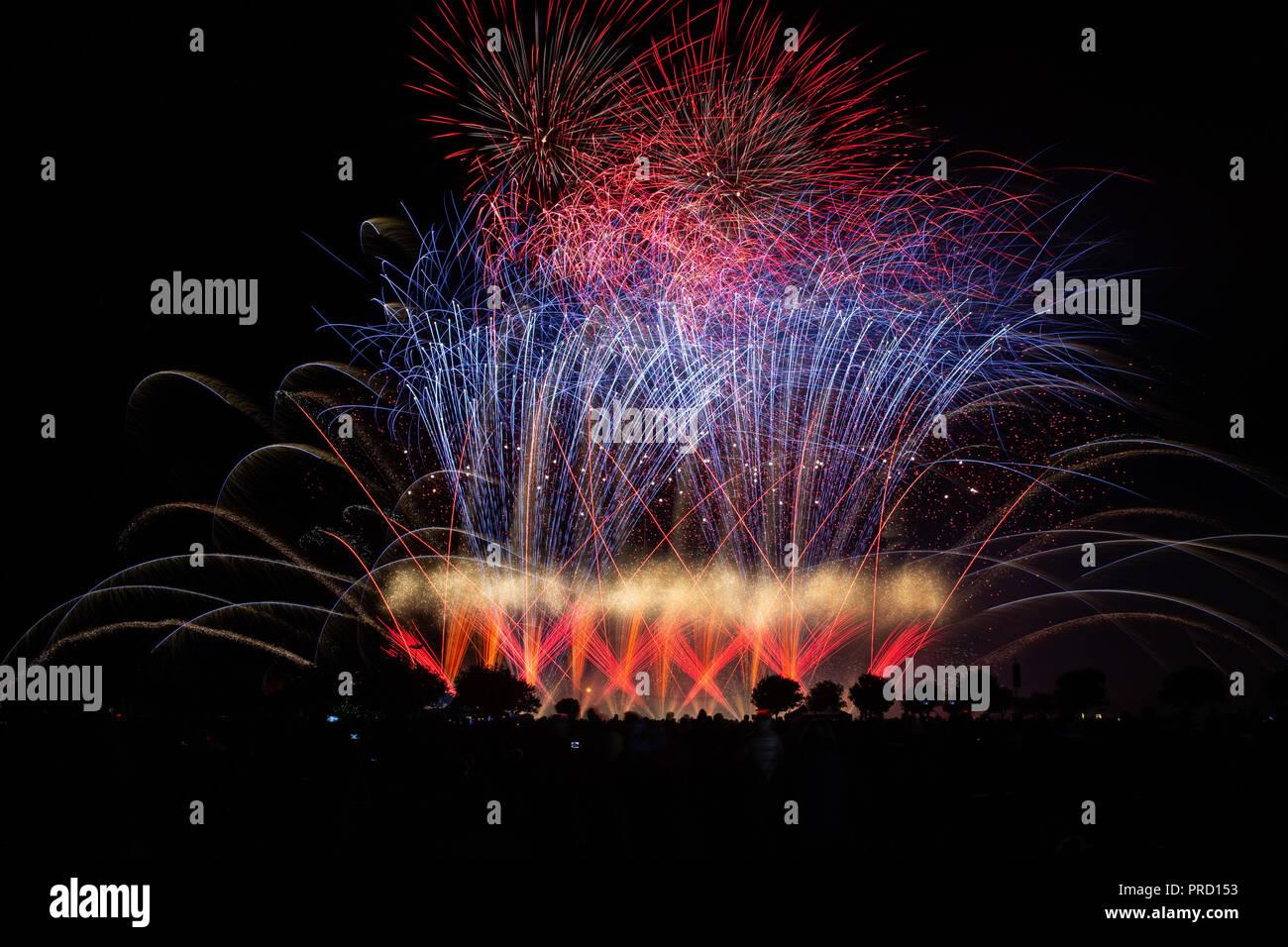 Southport musikalisches Feuerwerk Stockfoto
