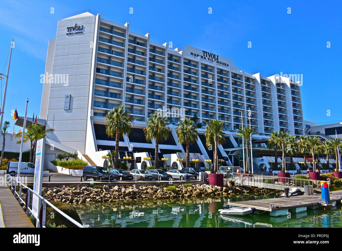 Das 5 Sterne Hotel Tivoli Marina Vilamoura Blickt Auf Das Meer Auf