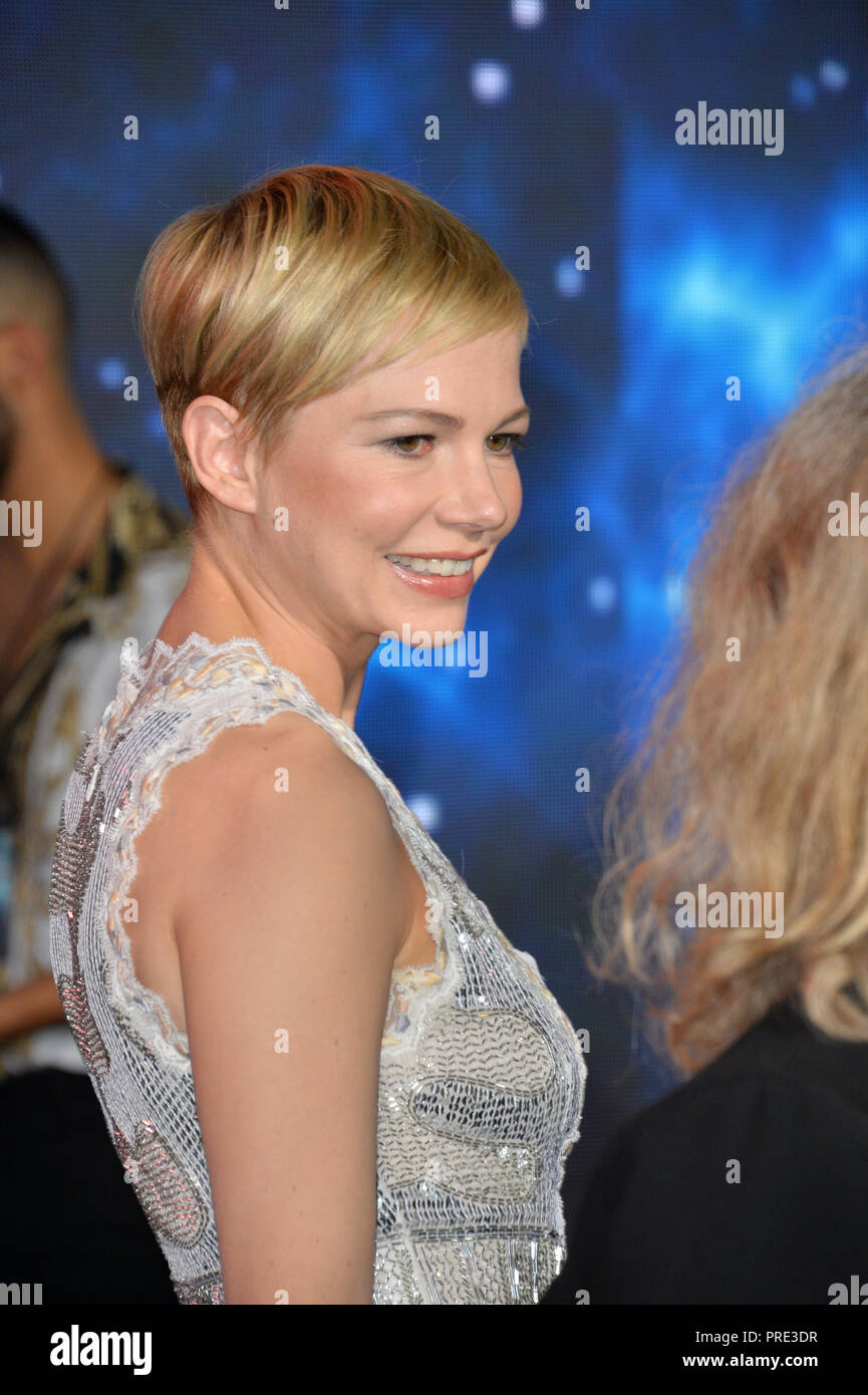 LOS ANGELES, Ca. Oktober 01, 2018: Michelle Williams bei der Weltpremiere für 'Gift' im Regency Dorf Theater. Bild: Paul Smith/Featureflash Stockfoto