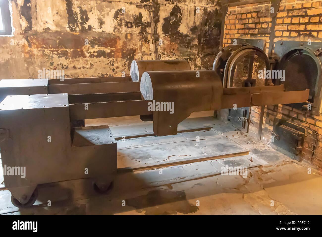 Krematorium in Auschwitz II Birkenau Konzentrations- und Vernichtungslager Stockbild