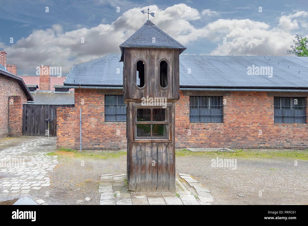 Der Gefangene Baracke in Konzentrations- und Vernichtungslager Auschwitz errichtet und von Nazi-deutschland in deutschen Betrieben - Polen vom Dritten Reich besetzt Stockbild