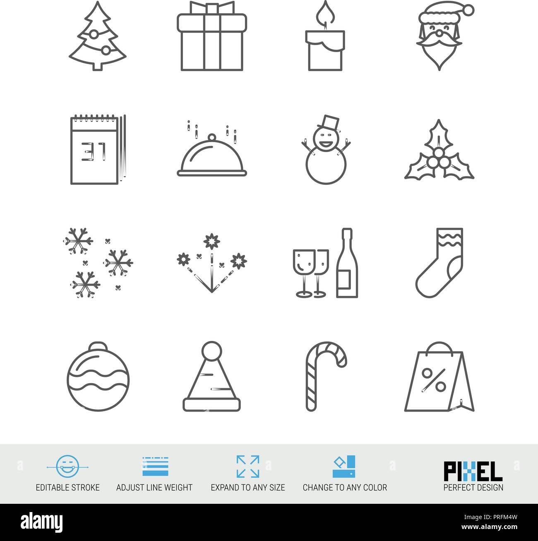 Frohe Weihnachten und guten Rutsch ins Neue Jahr Vector Zeile für ...