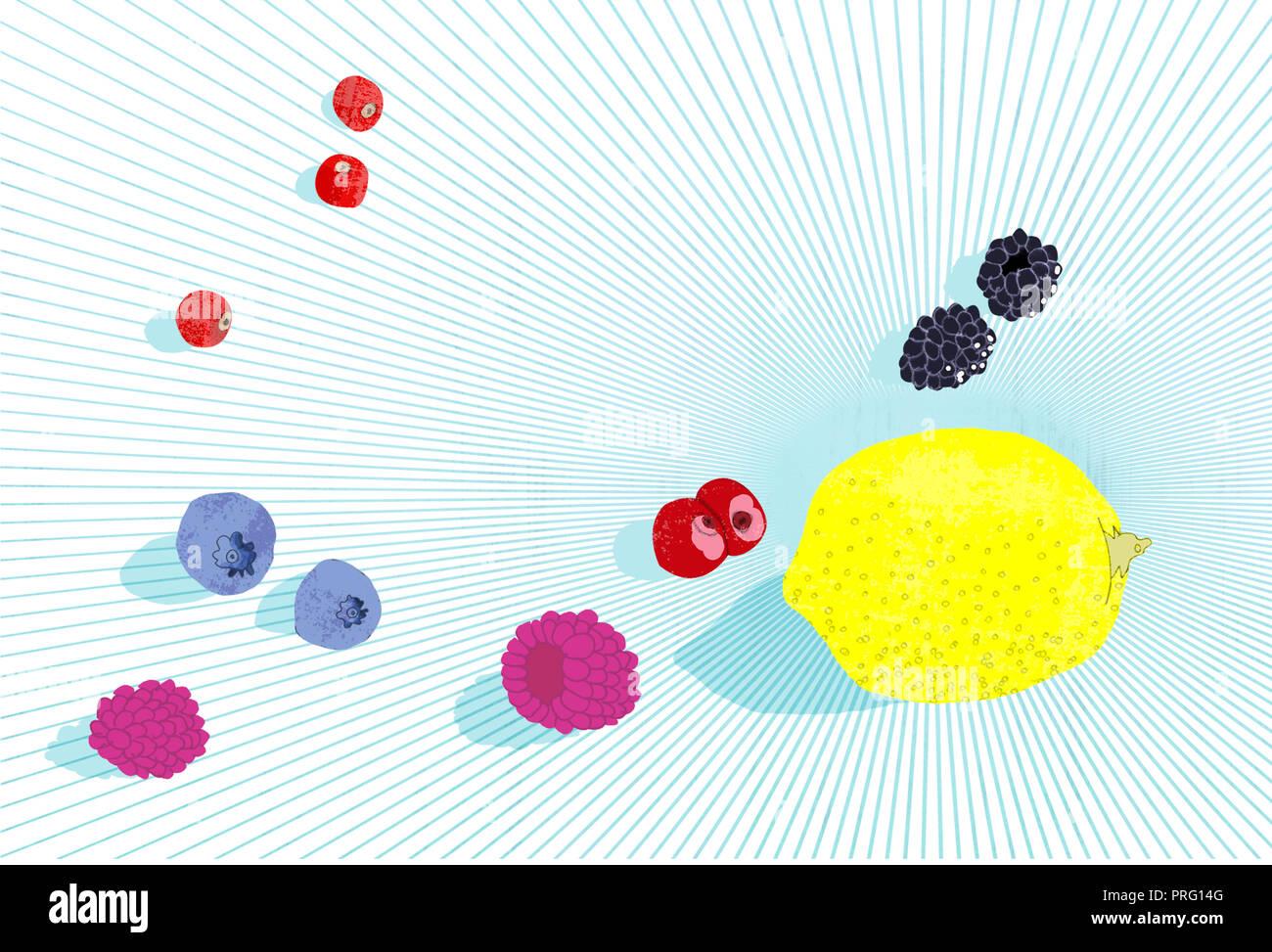 Alle Arten von Früchten Stockbild